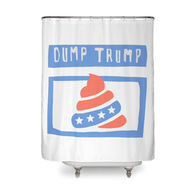 Dump Trump #3 Home Shower Curtain by hanksy