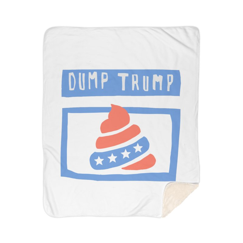 Dump Trump #3 Home Sherpa Blanket Blanket by hanksy