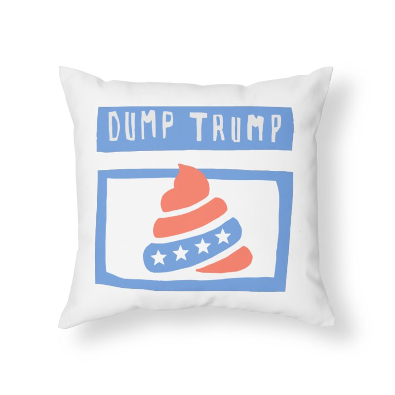 Dump Trump #3 Home Throw Pillow by hanksy