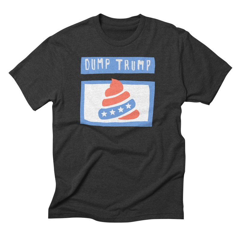 Dump Trump #3 Men's Triblend T-Shirt by hanksy