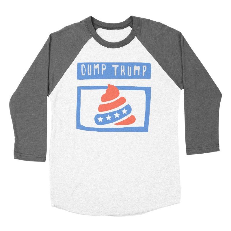 Dump Trump #3 Women's Baseball Triblend Longsleeve T-Shirt by hanksy