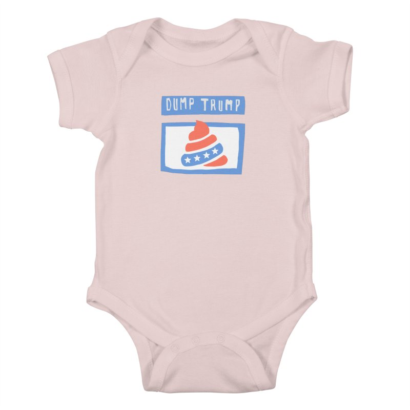Dump Trump #3 Kids Baby Bodysuit by hanksy