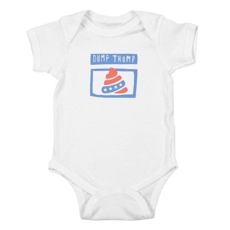 Dump Trump #3 Kids Baby Bodysuit by hanksy