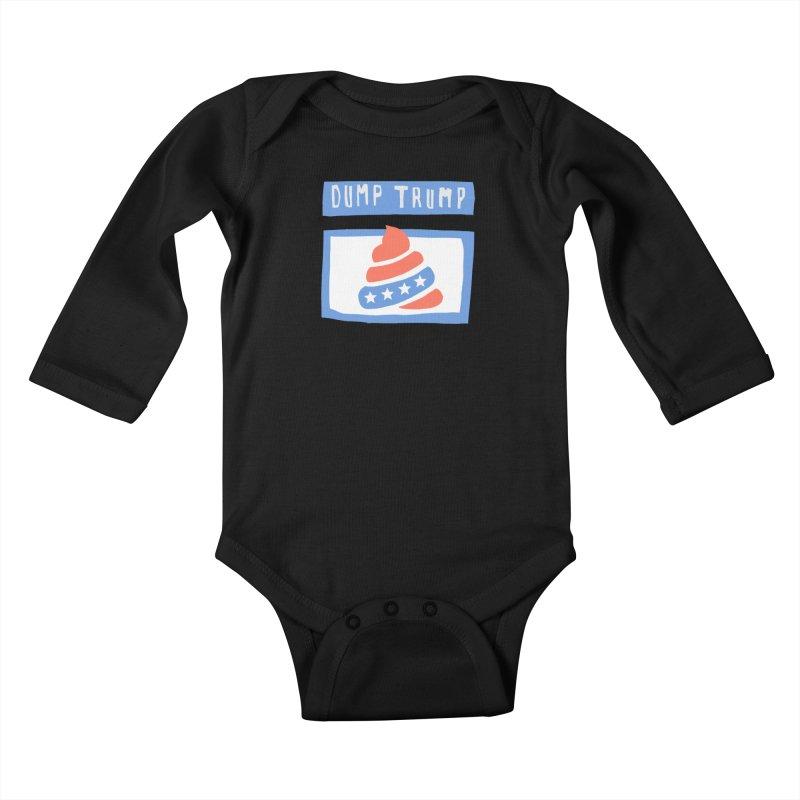 Dump Trump #3 Kids Baby Longsleeve Bodysuit by hanksy