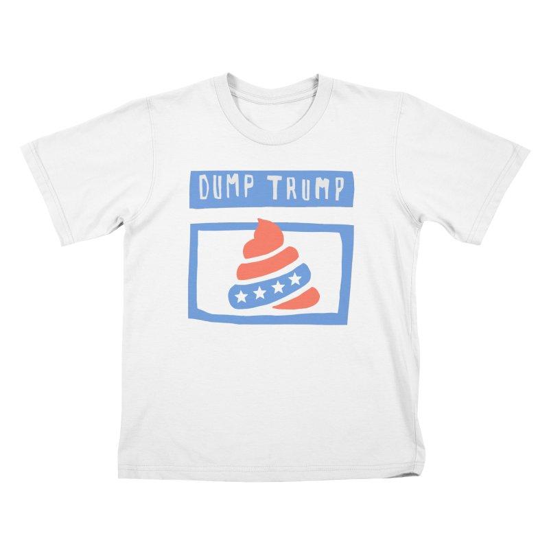 Dump Trump #3 Kids T-Shirt by hanksy