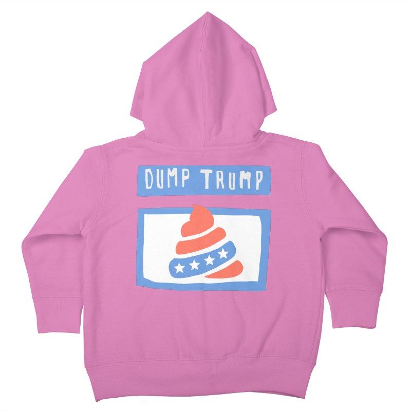 Dump Trump #3 Kids Toddler Zip-Up Hoody by hanksy