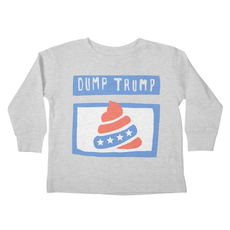 Dump Trump #3 Kids Toddler Longsleeve T-Shirt by hanksy