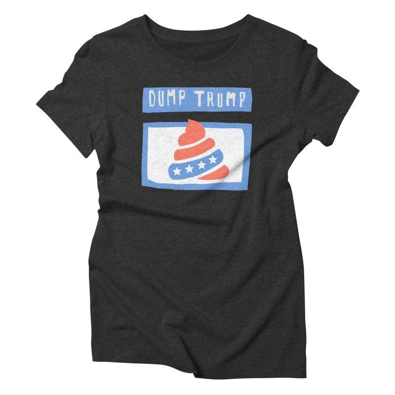 Dump Trump #3 Women's Triblend T-Shirt by hanksy