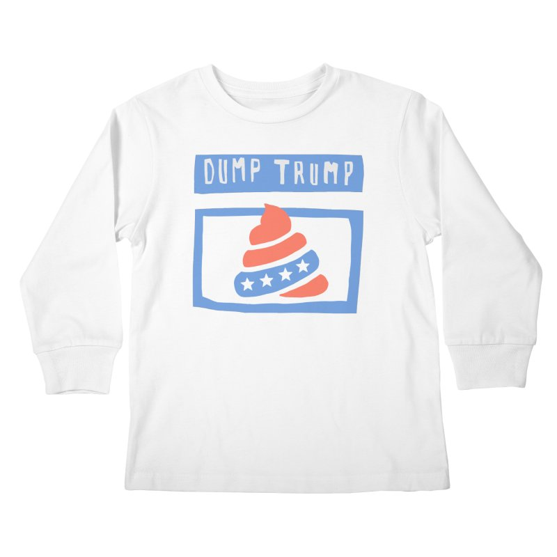 Dump Trump #3 Kids Longsleeve T-Shirt by hanksy