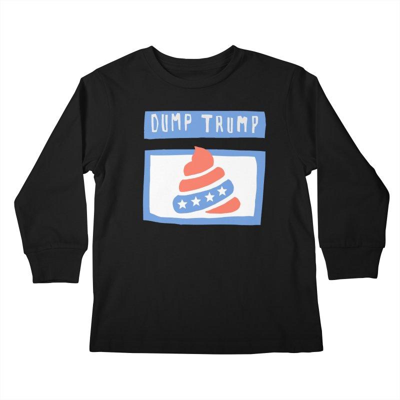 Dump Trump #3 Kids Longsleeve T-Shirt by hanksy