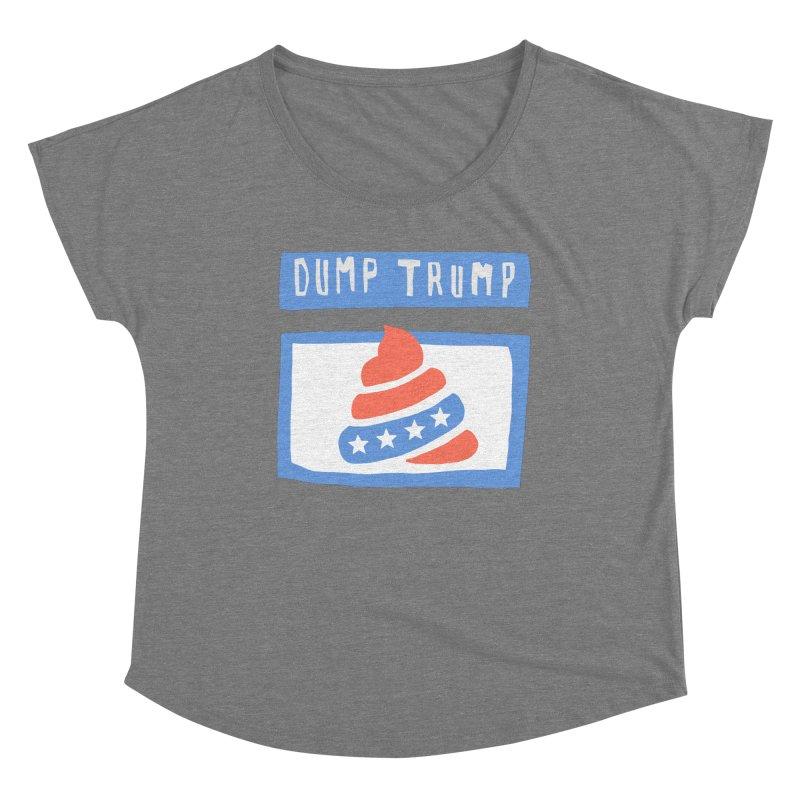 Dump Trump #3 Women's Scoop Neck by hanksy