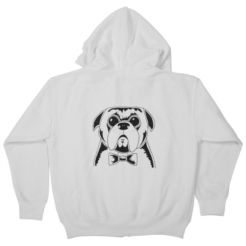 Bow Ties Are Cool Kids Zip-Up Hoody by Hannah's Artist Shop