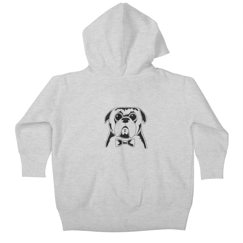 Bow Ties Are Cool Kids Baby Zip-Up Hoody by Hannah's Artist Shop