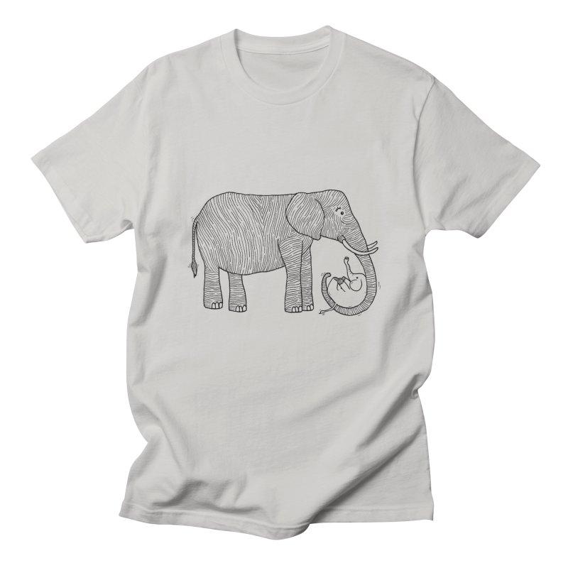 Ellie Bellie Men's Regular T-Shirt by Hannah's Artist Shop