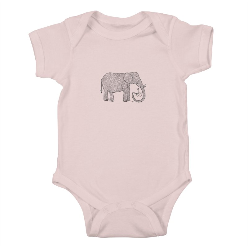 Ellie Bellie Kids Baby Bodysuit by Hannah's Artist Shop