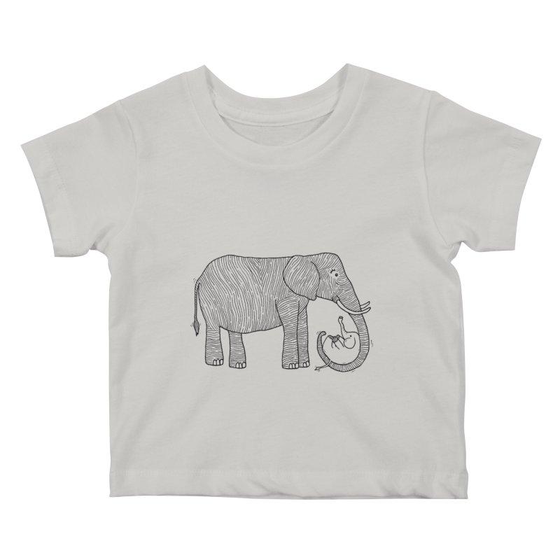 Ellie Bellie Kids Baby T-Shirt by Hannah's Artist Shop