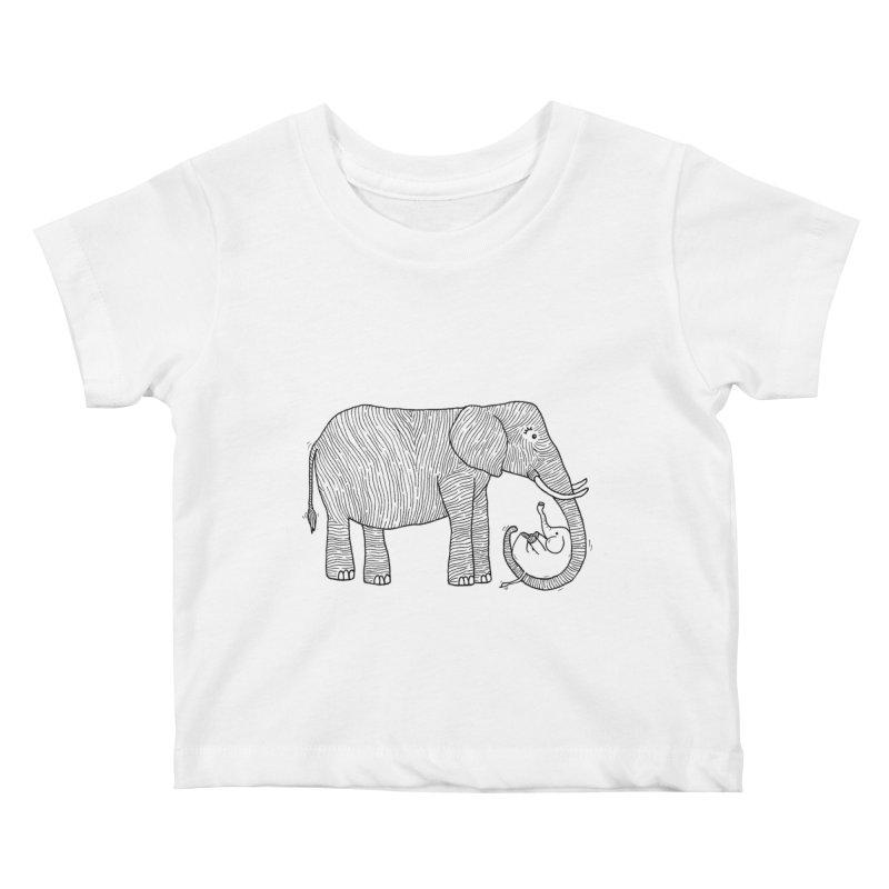 Ellie Bellie Kids Baby T-Shirt by Hannah's Artist Shop