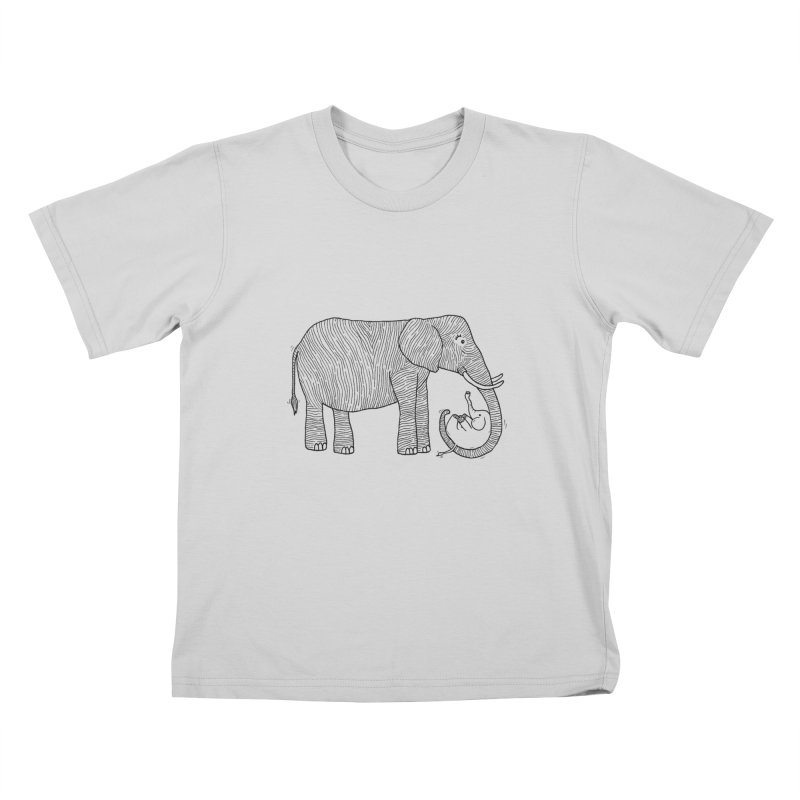 Ellie Bellie Kids T-Shirt by Hannah's Artist Shop