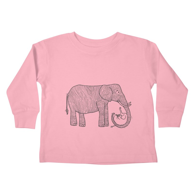 Ellie Bellie Kids Toddler Longsleeve T-Shirt by Hannah's Artist Shop