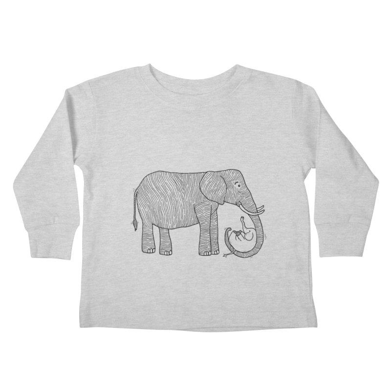 Ellie Bellie Kids Toddler Longsleeve T-Shirt by Hannah's Artist Shop