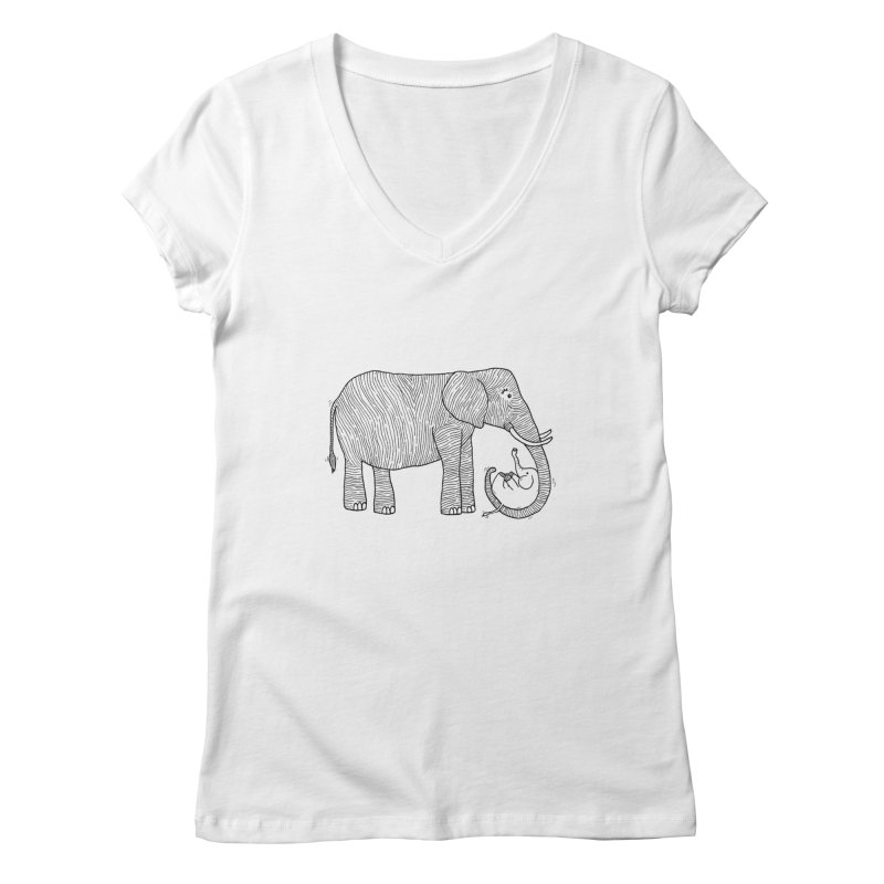 Ellie Bellie Women's Regular V-Neck by Hannah's Artist Shop