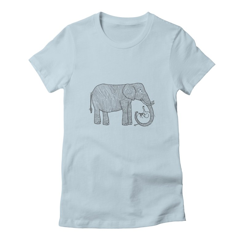Ellie Bellie Women's Fitted T-Shirt by Hannah's Artist Shop