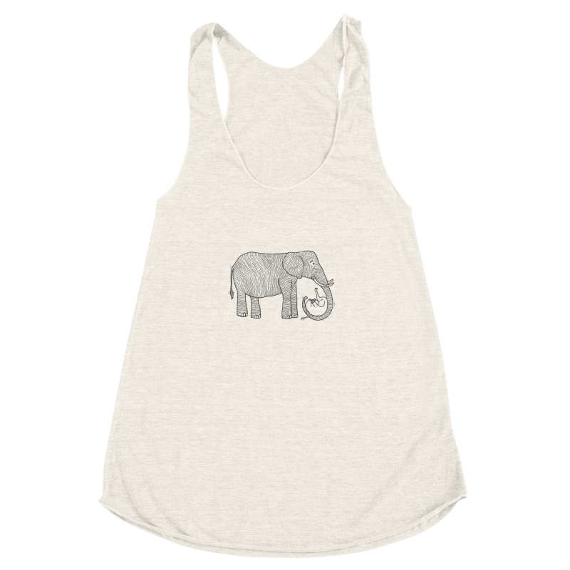 Ellie Bellie Women's Racerback Triblend Tank by Hannah's Artist Shop