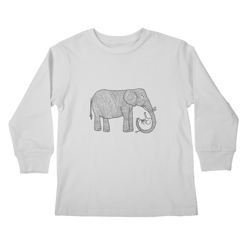 Ellie Bellie Kids Longsleeve T-Shirt by Hannah's Artist Shop