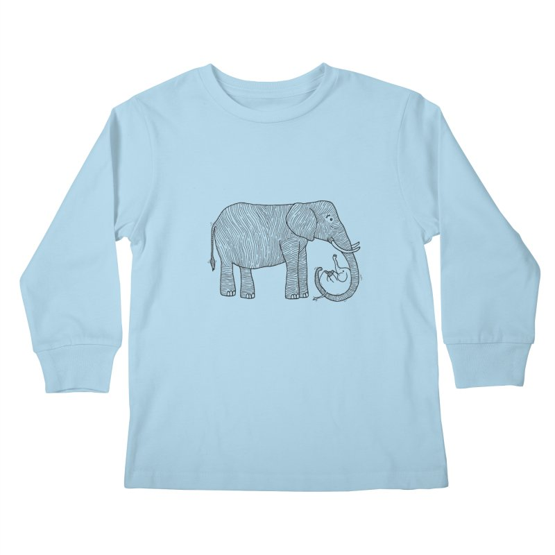 Ellie Bellie Kids Longsleeve T-Shirt by Hannah's Artist Shop