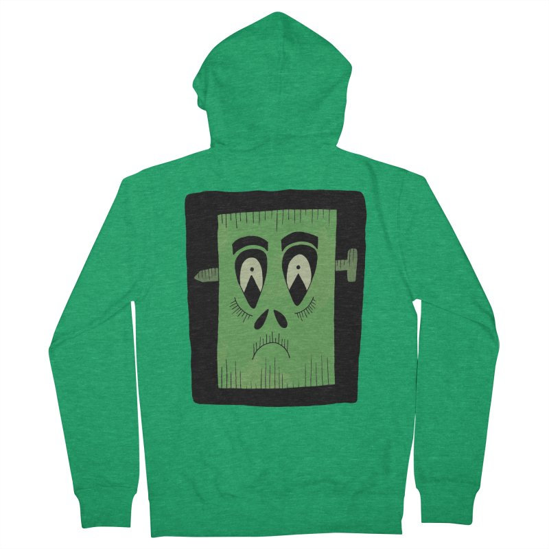 Frankie Men's French Terry Zip-Up Hoody by Hannah's Artist Shop