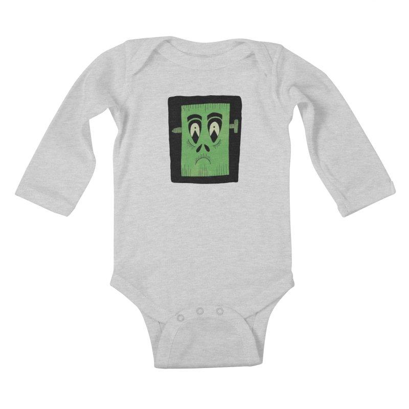 Frankie Kids Baby Longsleeve Bodysuit by Hannah's Artist Shop