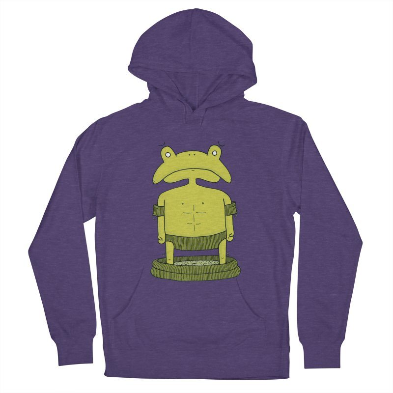 Froggy Men's French Terry Pullover Hoody by Hannah's Artist Shop