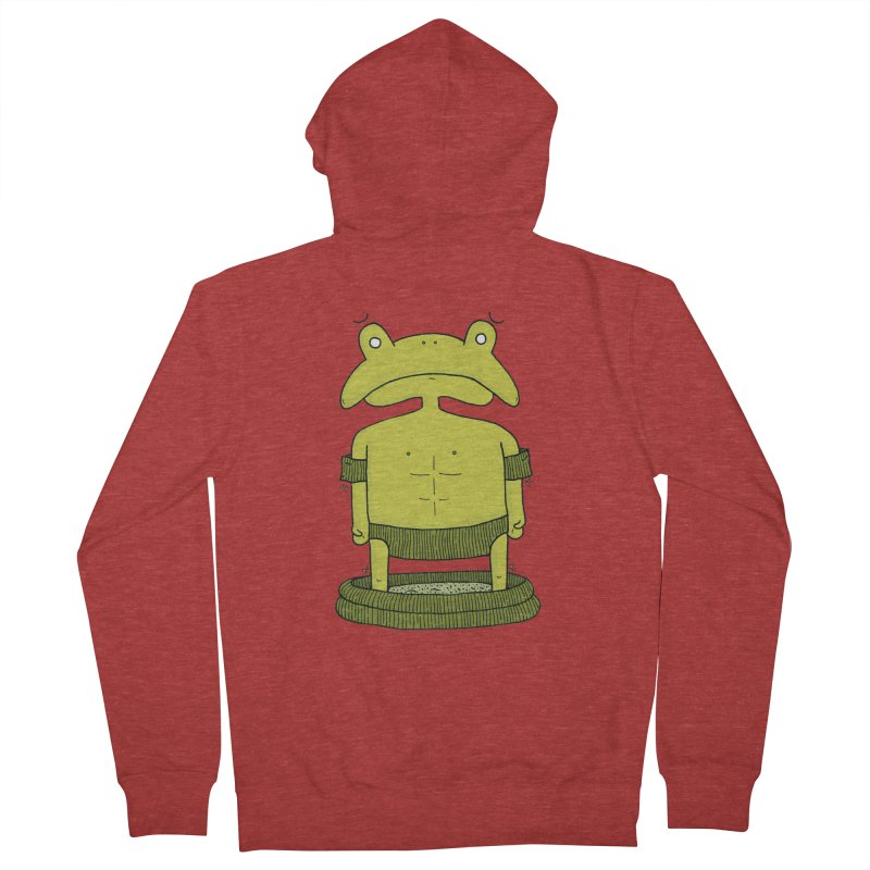 Froggy Women's French Terry Zip-Up Hoody by Hannah's Artist Shop