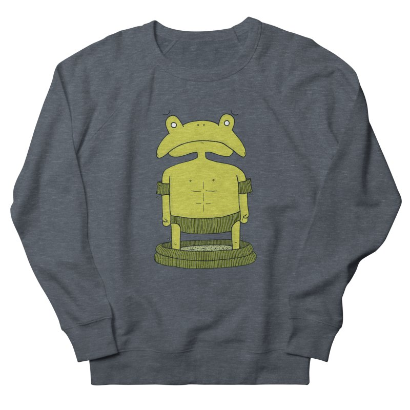 Froggy Men's French Terry Sweatshirt by Hannah's Artist Shop