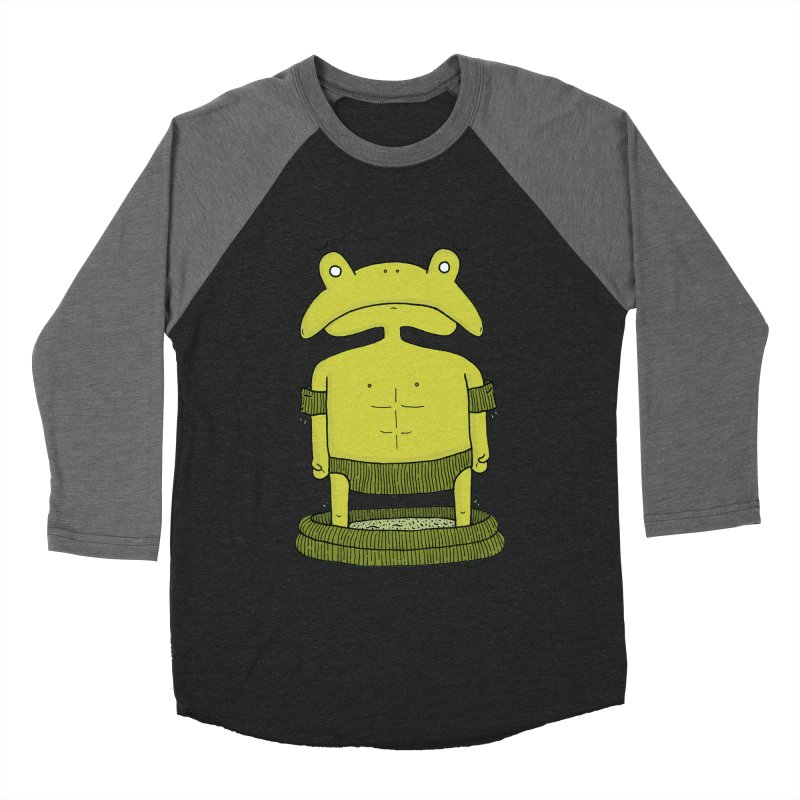 Froggy Men's Baseball Triblend Longsleeve T-Shirt by Hannah's Artist Shop