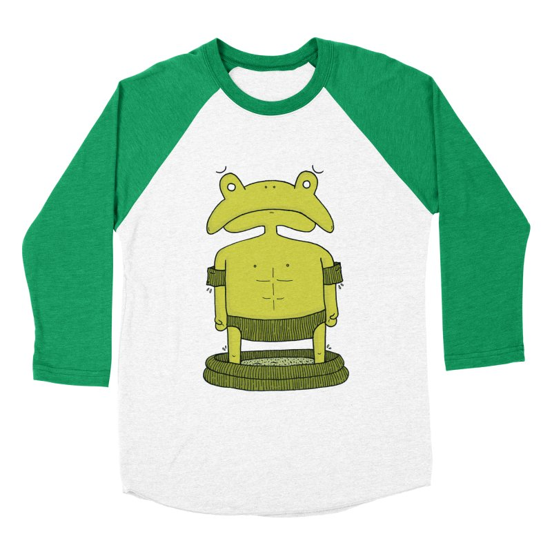 Froggy Men's Baseball Triblend Longsleeve T-Shirt by Hannah's Artist Shop