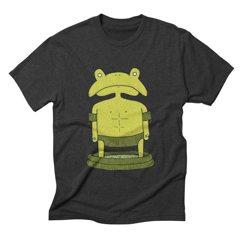 Froggy Men's Triblend T-shirt by Hannah's Artist Shop