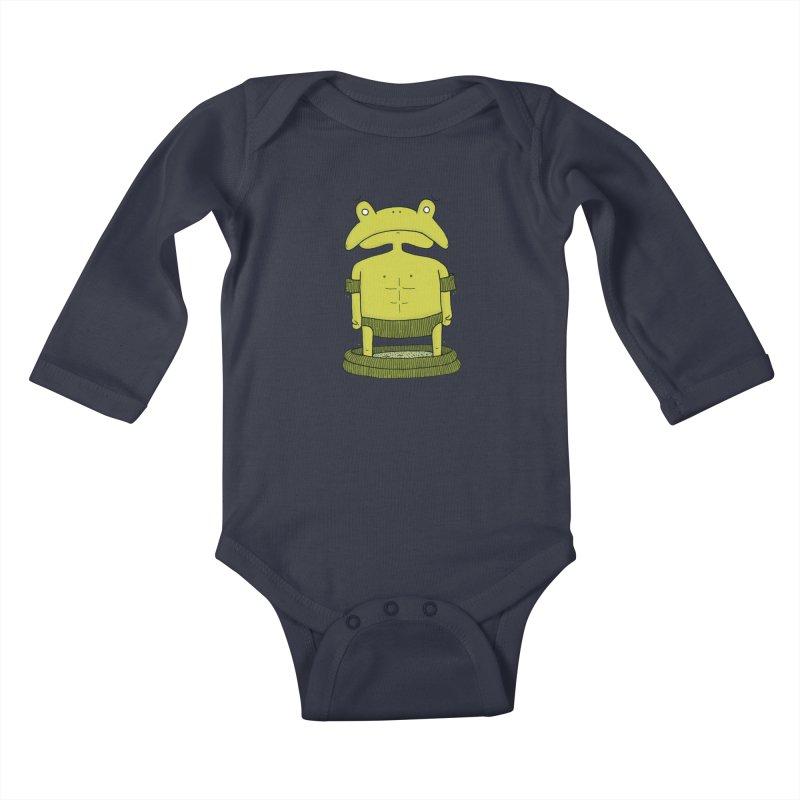 Froggy Kids Baby Longsleeve Bodysuit by Hannah's Artist Shop