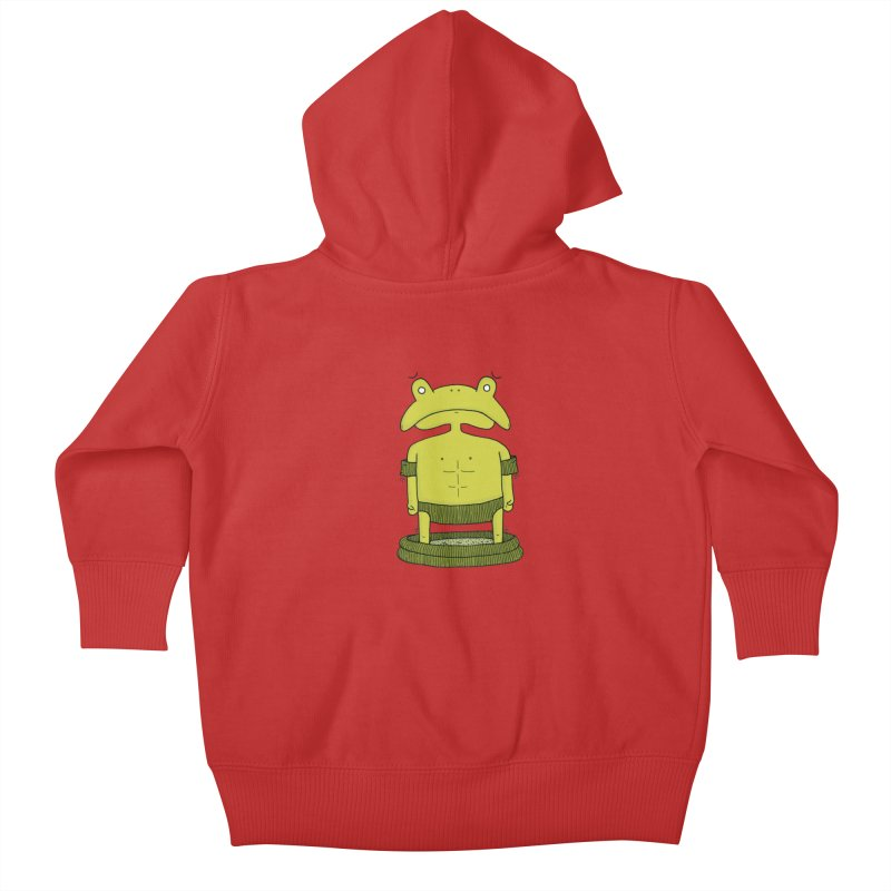 Froggy Kids Baby Zip-Up Hoody by Hannah's Artist Shop