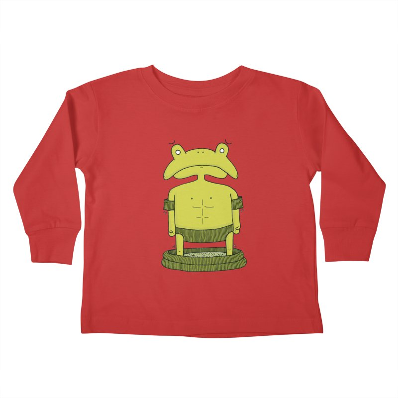 Froggy Kids Toddler Longsleeve T-Shirt by Hannah's Artist Shop