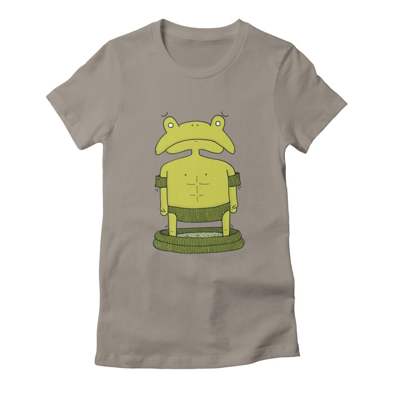 Froggy Women's Fitted T-Shirt by Hannah's Artist Shop