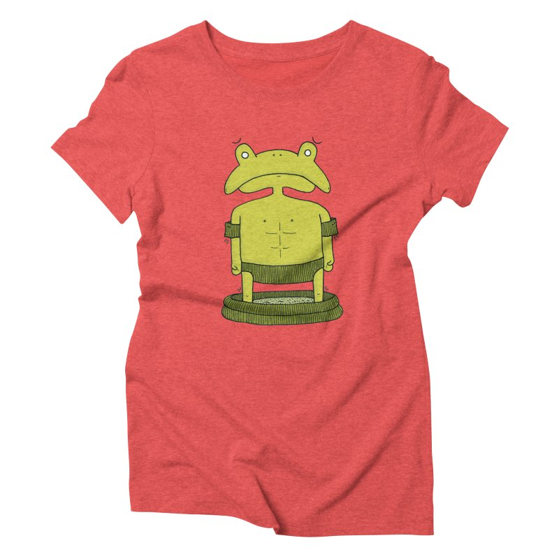 Froggy Women's Triblend T-Shirt by Hannah's Artist Shop