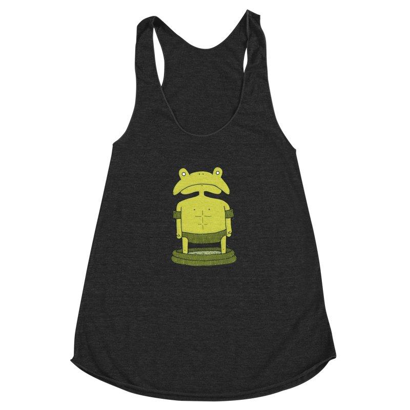 Froggy Women's Racerback Triblend Tank by Hannah's Artist Shop