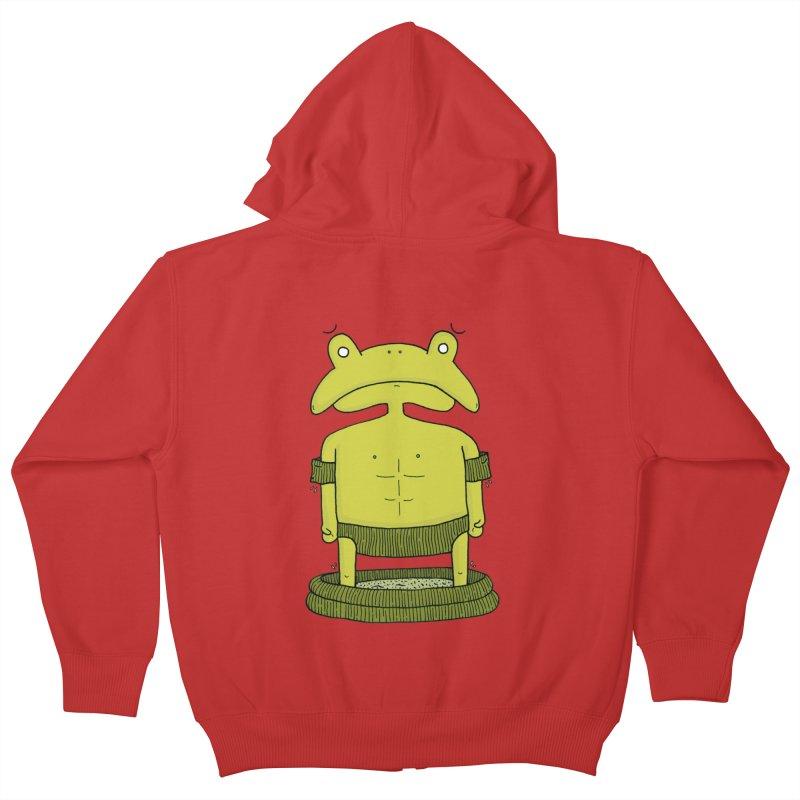 Froggy Kids Zip-Up Hoody by Hannah's Artist Shop