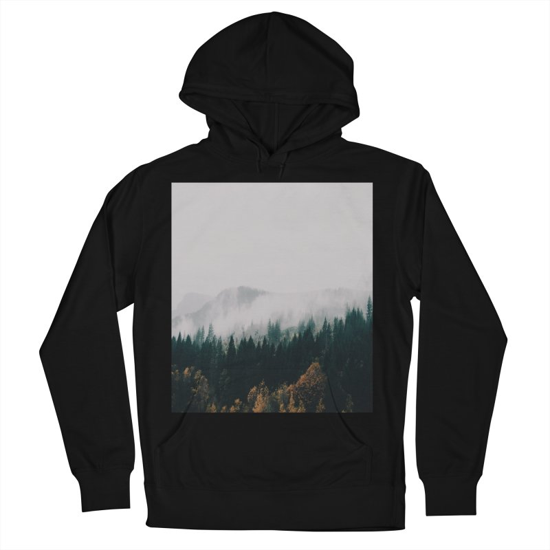 Forest Fog Women's French Terry Pullover Hoody by hannahkemp's Artist Shop
