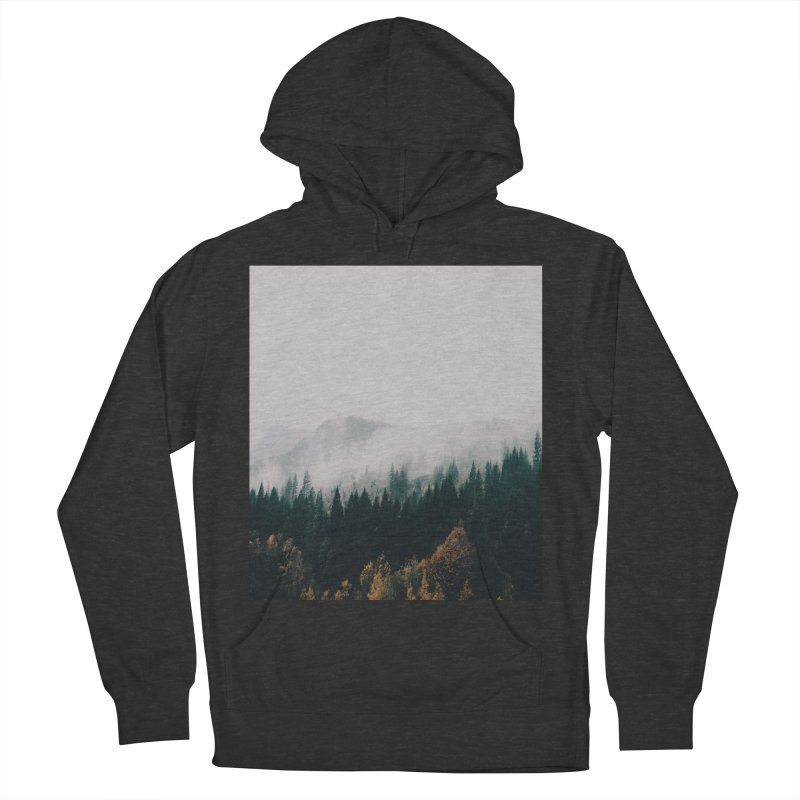 Forest Fog Men's French Terry Pullover Hoody by hannahkemp's Artist Shop