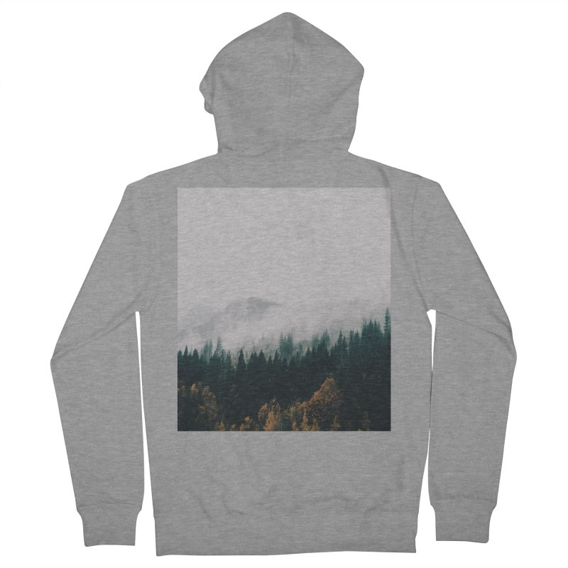 Forest Fog Women's French Terry Zip-Up Hoody by hannahkemp's Artist Shop