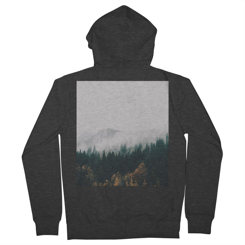 Forest Fog Men's French Terry Zip-Up Hoody by hannahkemp's Artist Shop