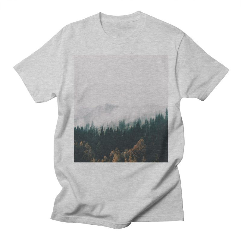 Forest Fog Men's Regular T-Shirt by hannahkemp's Artist Shop