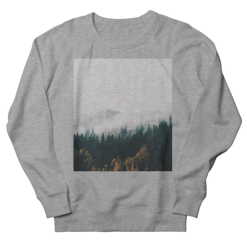 Forest Fog Women's French Terry Sweatshirt by hannahkemp's Artist Shop